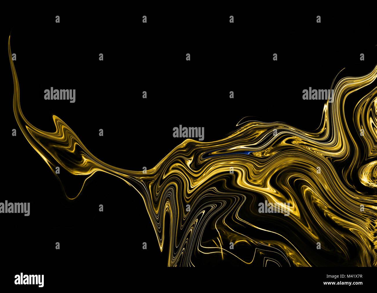 Liquid Dark Gold Marble Background Marbling Texture Design