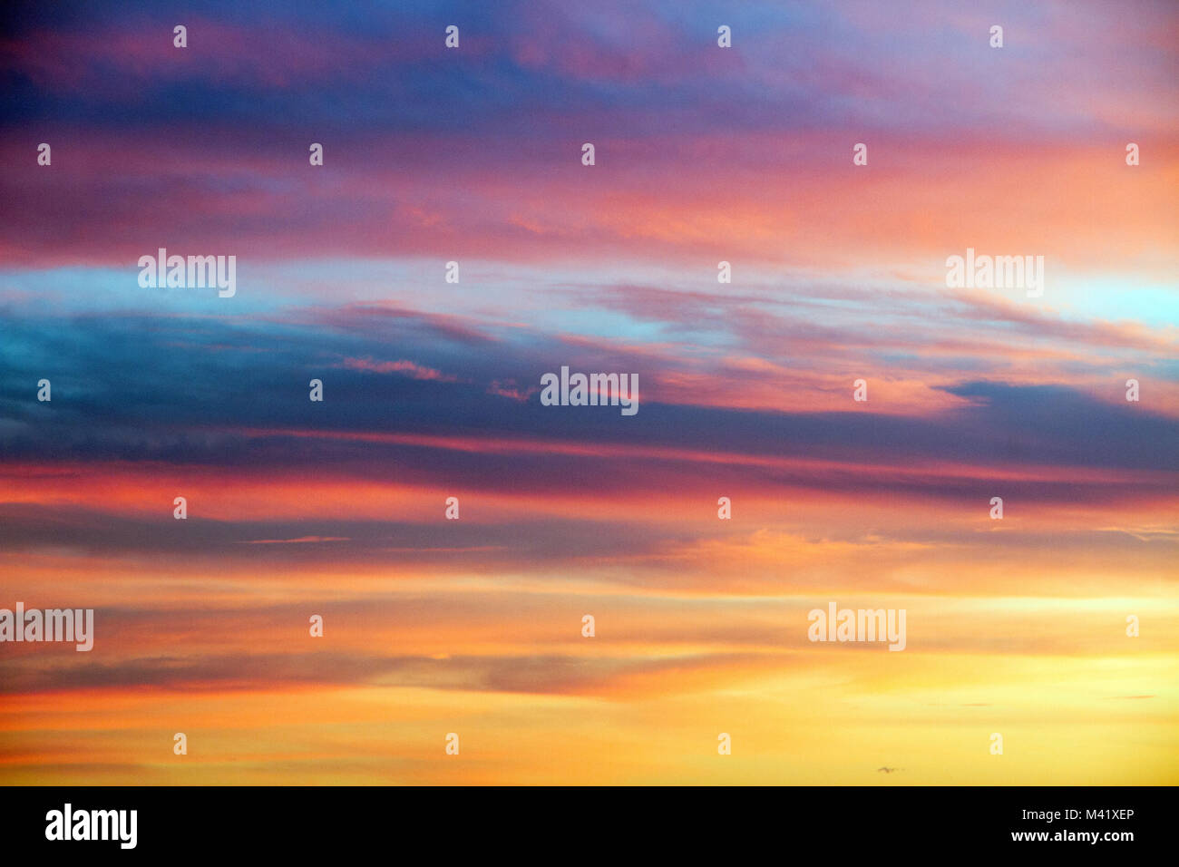 Cloudy sky at sunset Spain, colors background Stock Photo