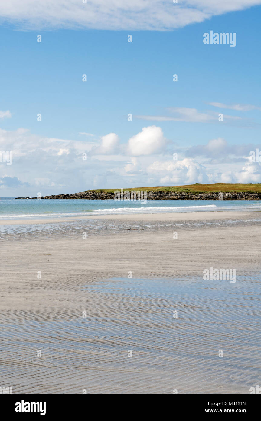 Ard Michel beach, near Stoneybridge, Isle of South UIst, Outer Hebrides, Scotland, UK - Stock Image