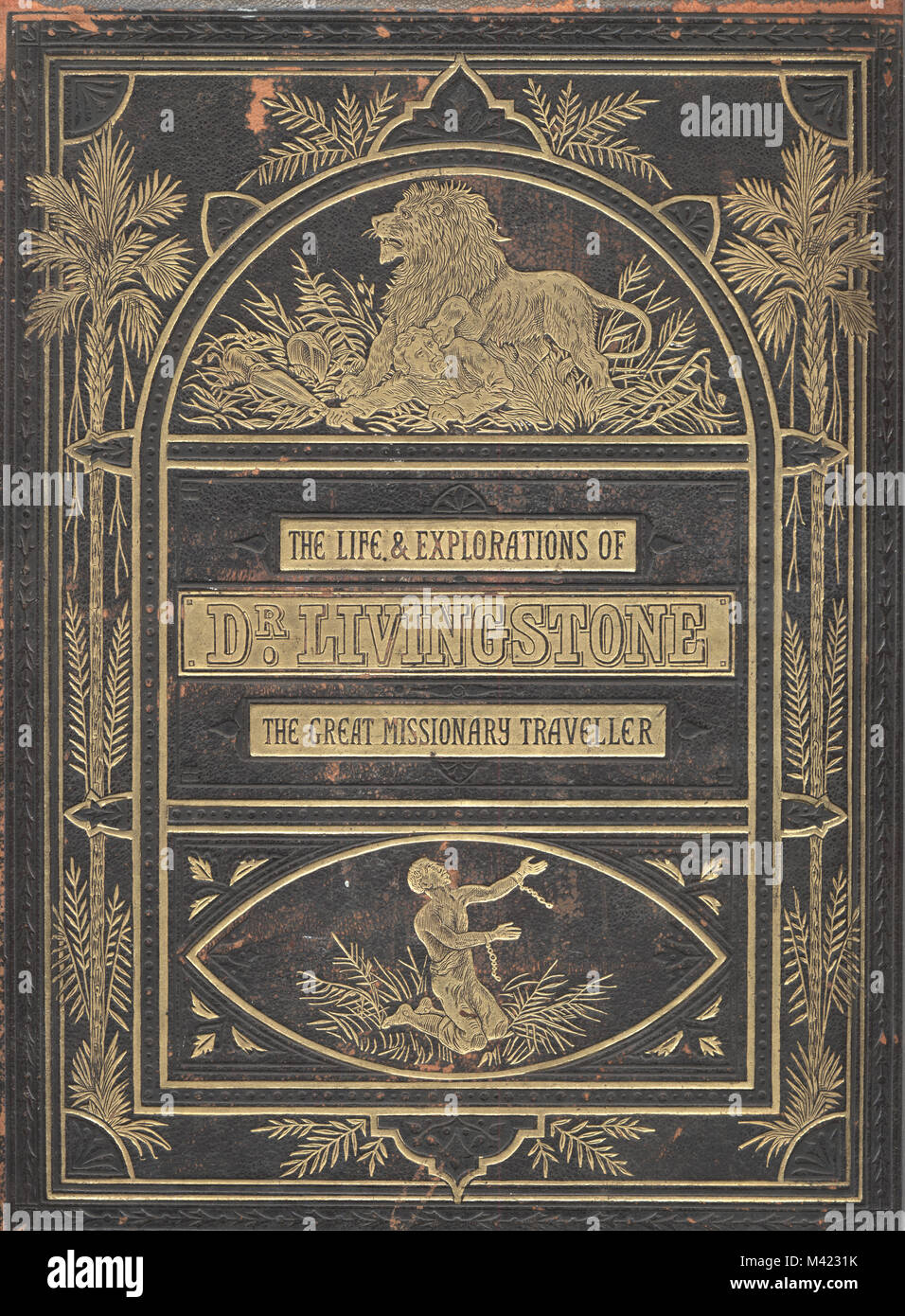 Book cover of Life and Explorations of Dr David Livingstone - Stock Image