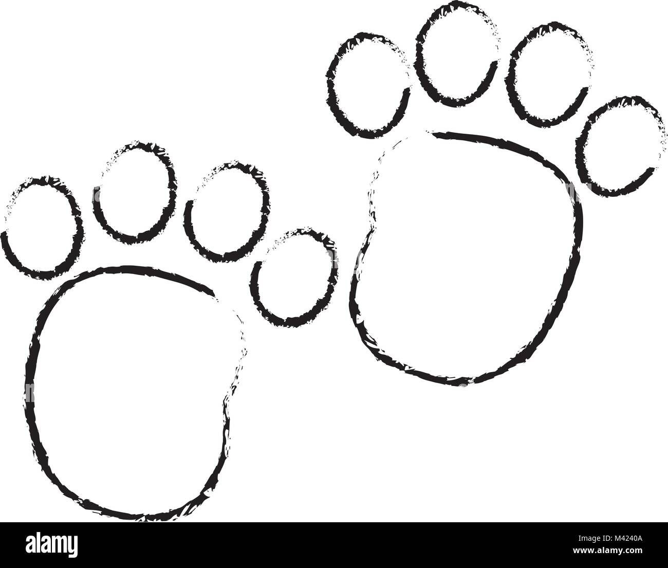 grunge human footprint with toes mark sign - Stock Vector