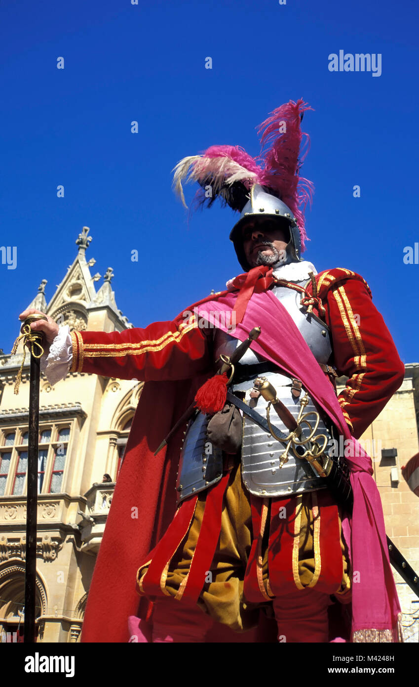 historic fiesta, Mdina, Malta, Europe - Stock Image