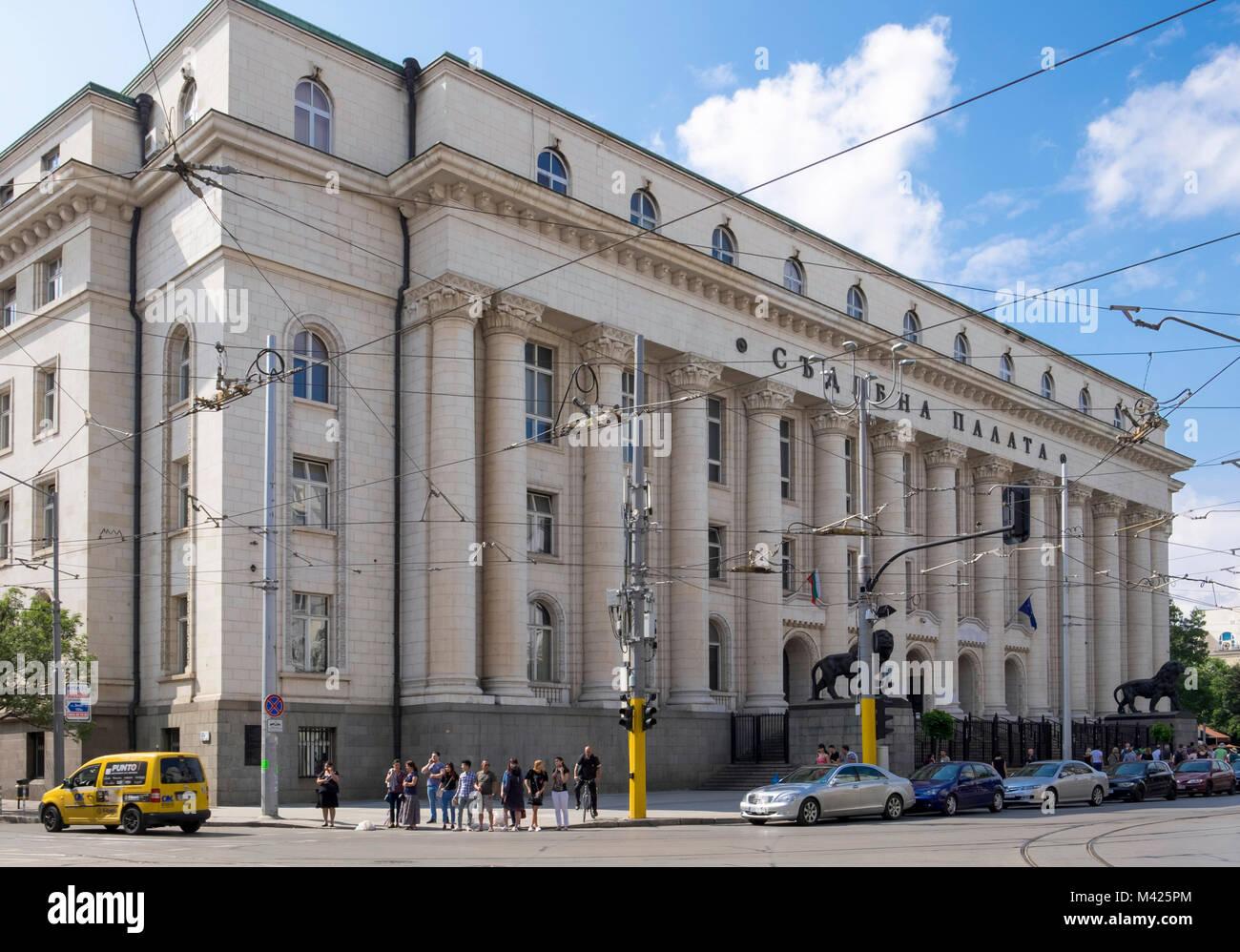 Palace of Justice, (Courts) Vitosha Boulevard, central Sofia, Bulgaria, Europe - Stock Image