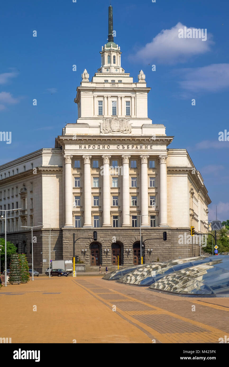 The Council of Ministers Building, a landmark in central Sofia, Bulgaria, Europe - Stock Image