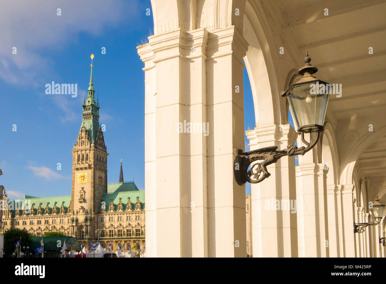The Rathaus, Town Hall in Hamburg, Germany - Stock Image