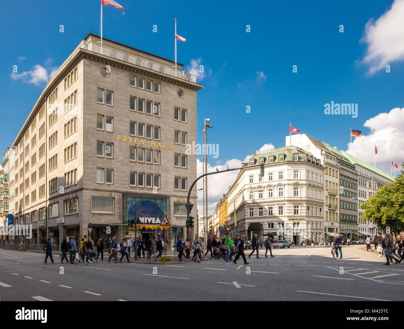 Nivea Haus, the Nivea beauty brand flagship store in Hamburg, Germany - Stock Image