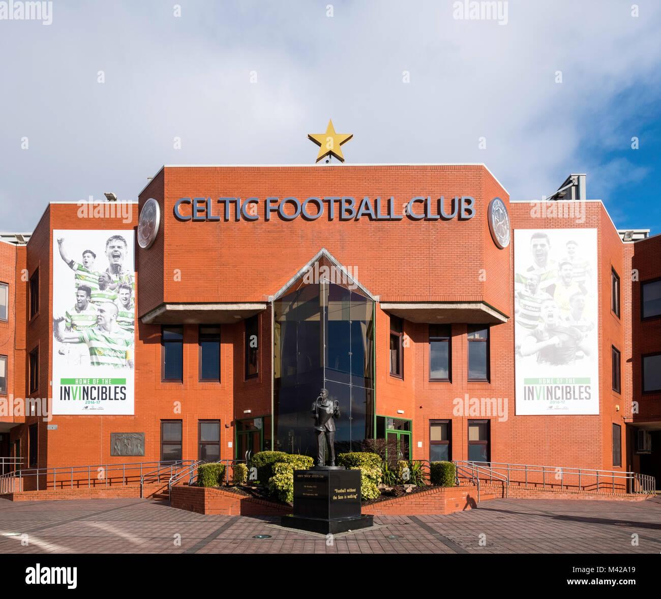 Celtic Park home of Celtic Football Club in Parkhead , Glasgow, Scotland, United Kingdom - Stock Image