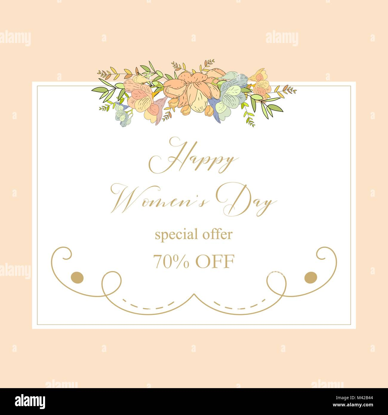 Spring sale background with beautiful colorful flower vector stock spring sale background with beautiful colorful flower vector illustration template bannerswallpaperers invitation posters brochure stopboris Choice Image