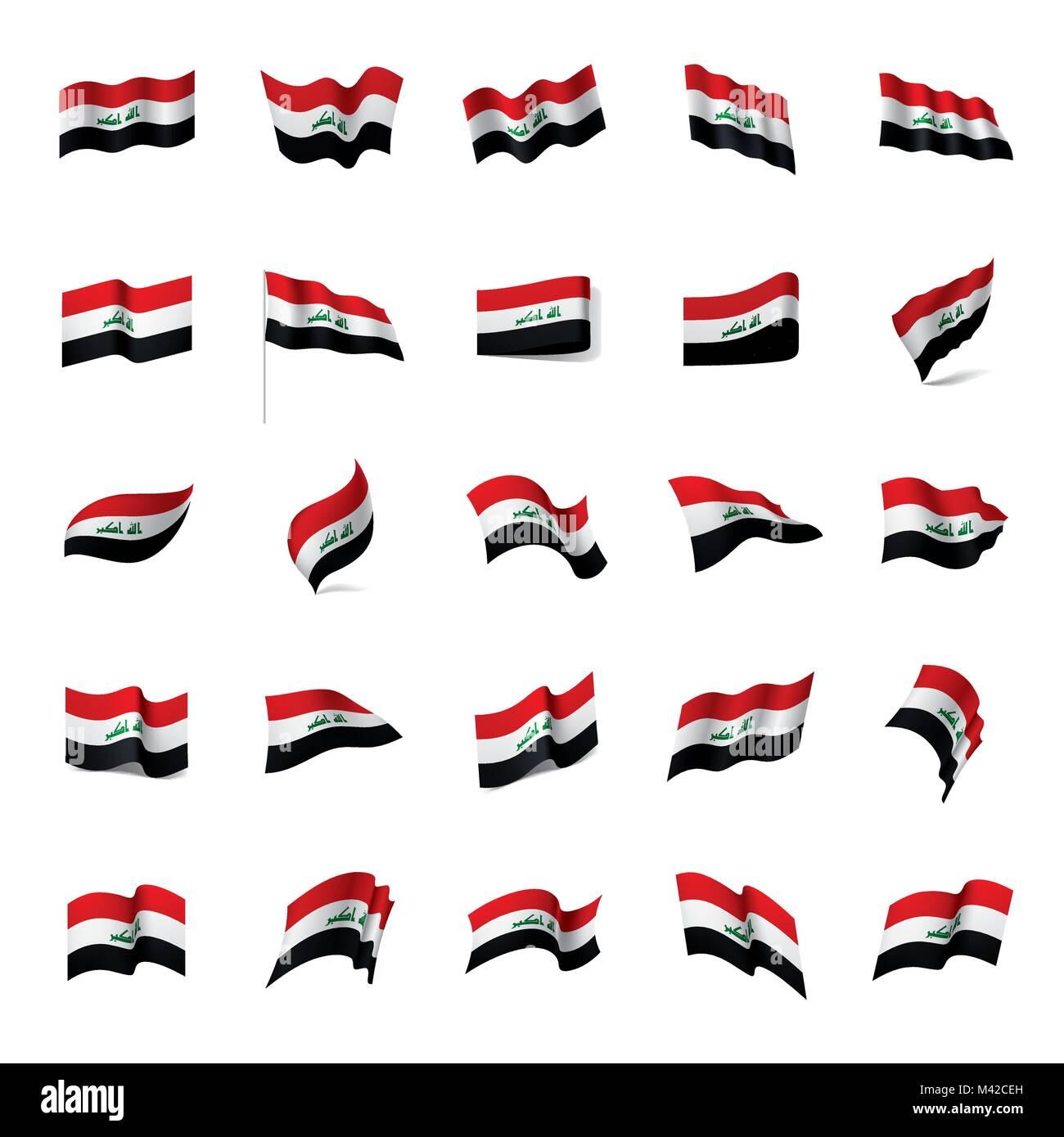 Iraqi flag, vector illustration - Stock Image