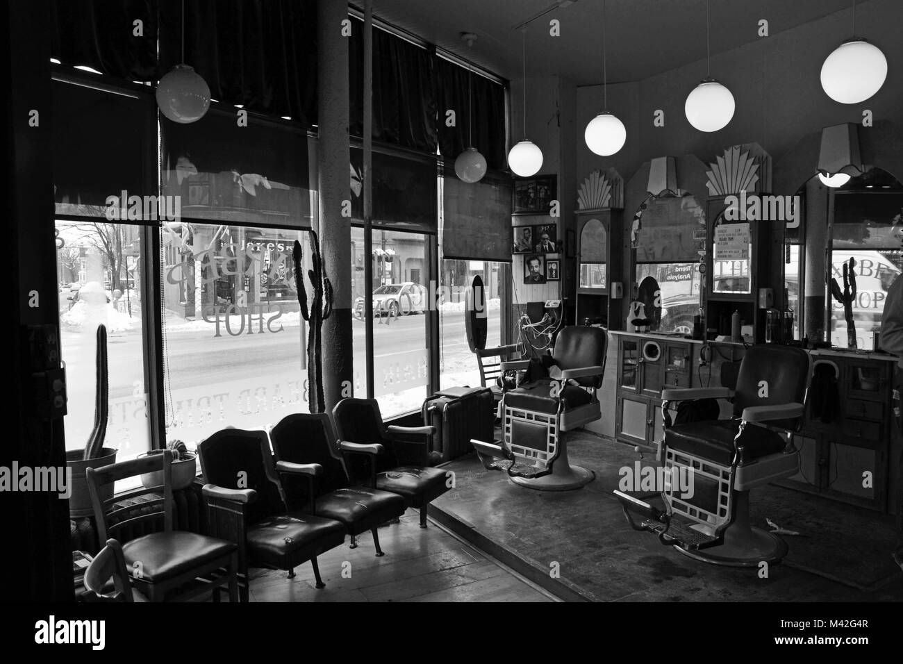 A Quiet Morning Inside The Corner Barber Shop On North Side Of Chicago