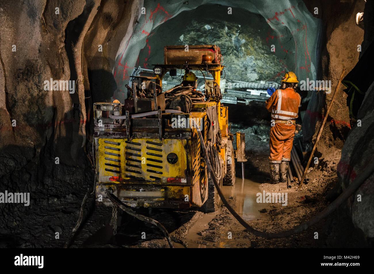 Mechanic of mining machines - Stock Image
