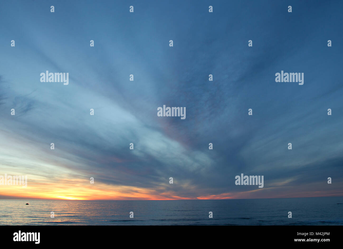 Pacific Ocean Sunset - Stock Image