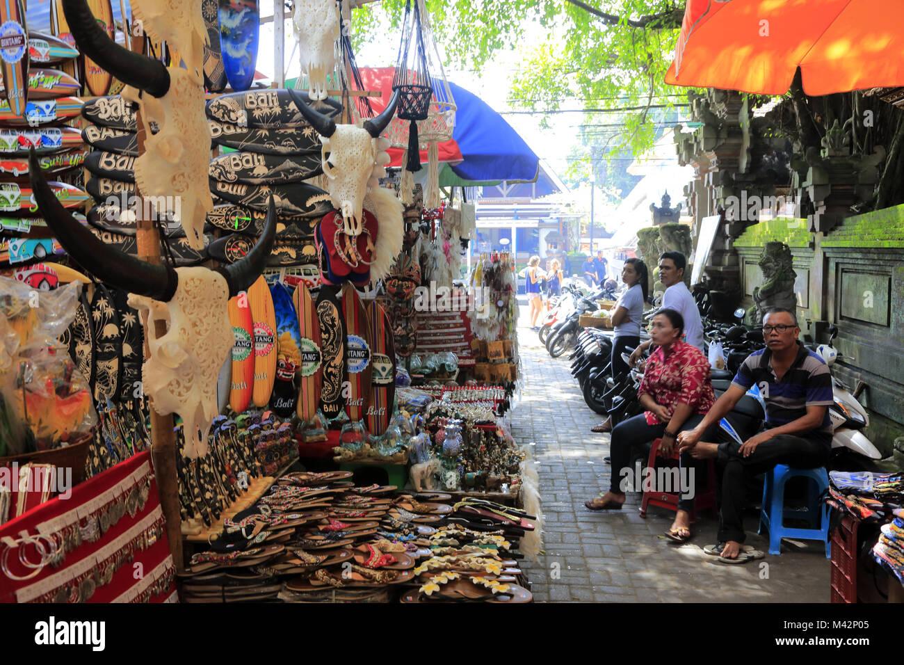 Ubud Art Market.Ubud.Bali.Indonesia - Stock Image