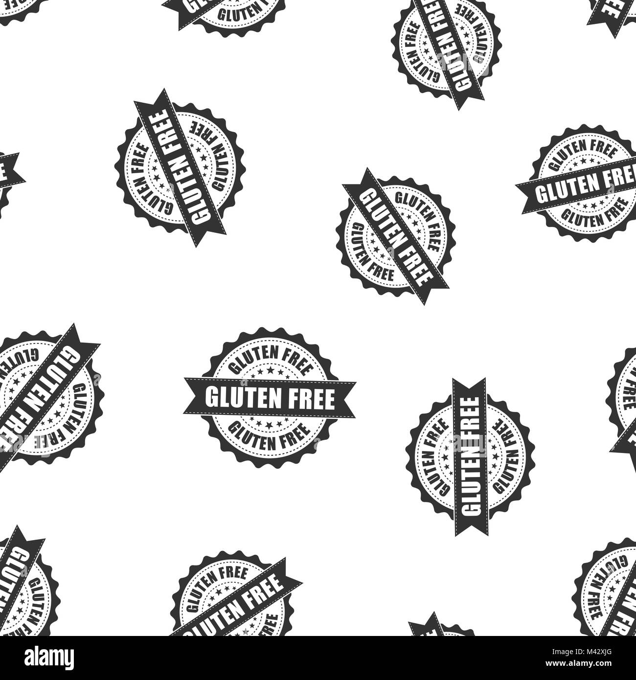 Gluten free rubber stamp seamless pattern background  Business Stock