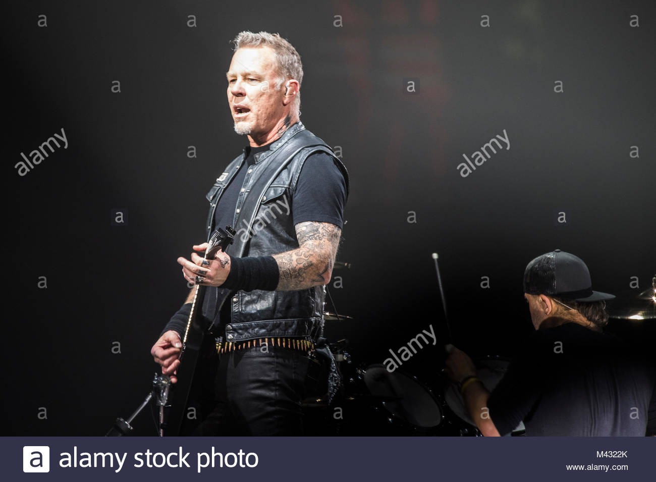 American band Metallica performs live on stage at Unipol Arena in Bologna on February 12, 2018 - Stock Image