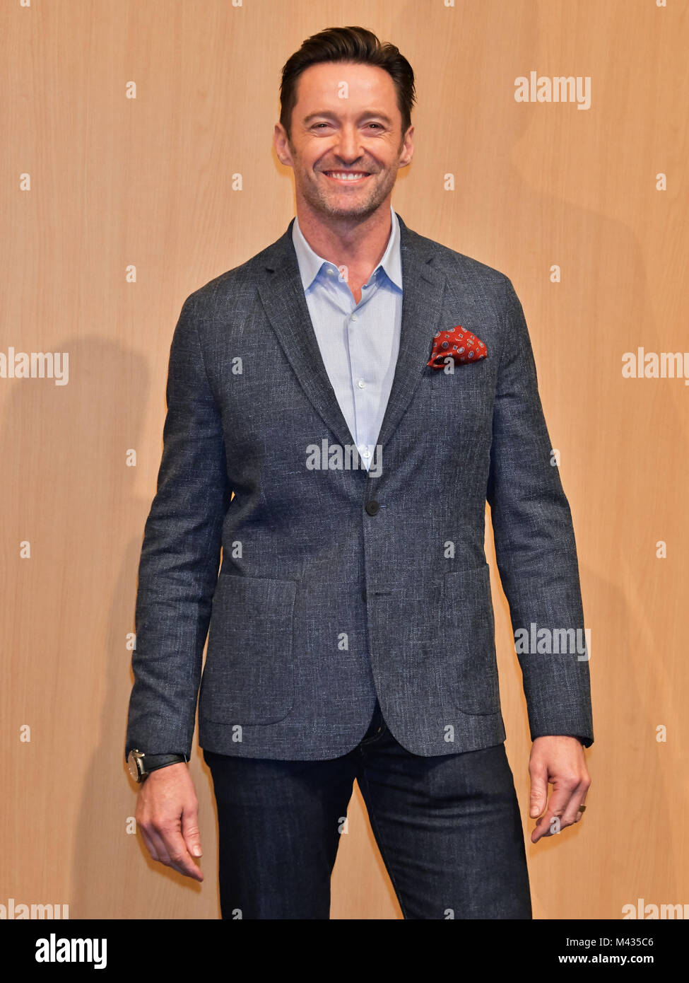 Tokyo, Japan. 14th February, 2018. Hugh Jackman, February 14, 2018, Tokyo, Japan : Actor Hugh Jackman attends the - Stock Image