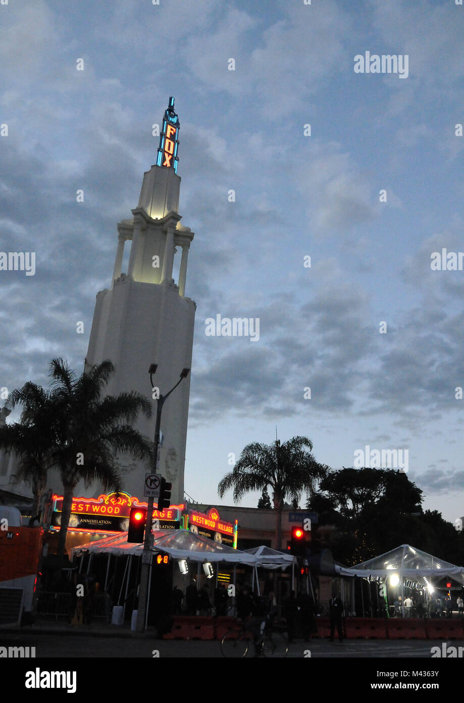 Los Angeles, California, USA. 13th February, 2018. A general view of atmosphere at the LA Premiere of 'Annihilation' Stock Photo