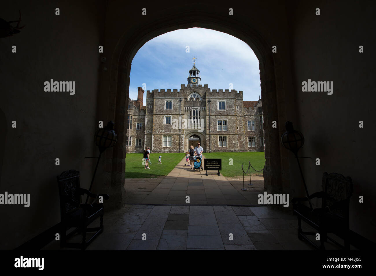 Knole House in Sevenoaks, Kent, The 15th Century house was formerly an Archbishop's palace and for 400 years - Stock Image