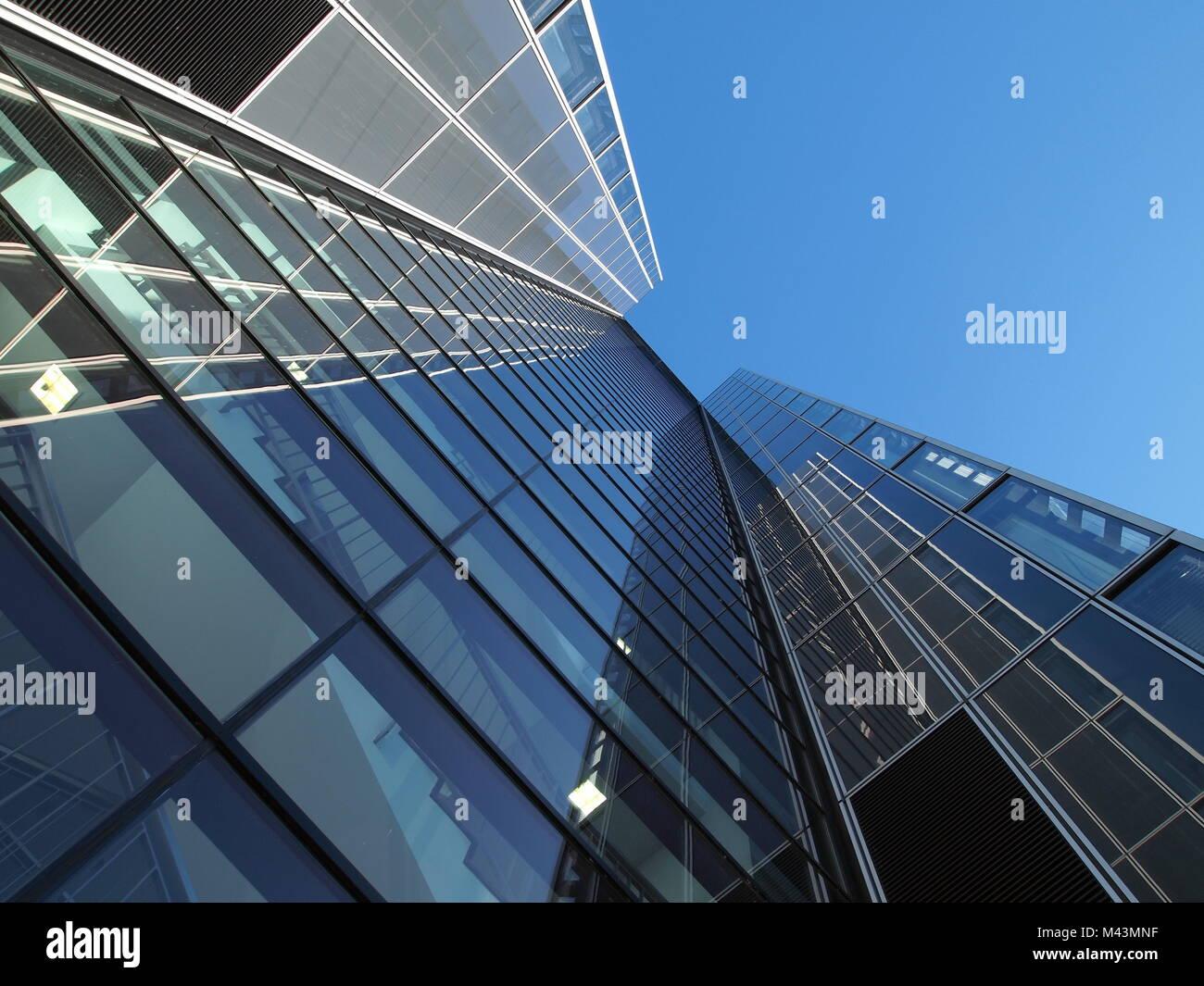 architectur detail of a bureau building at cologne - Stock Image