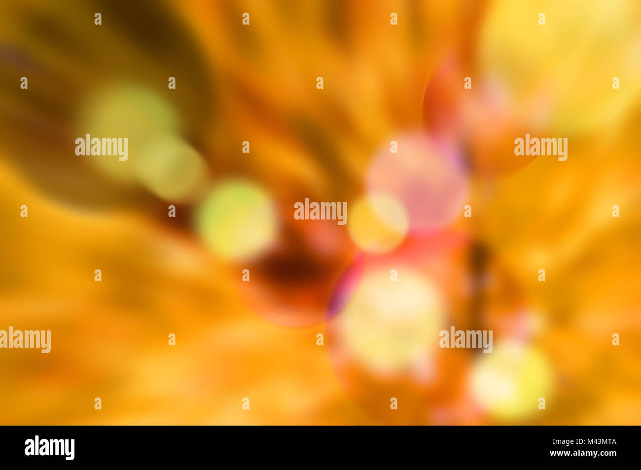 bokeh background in warm colors - Stock Image