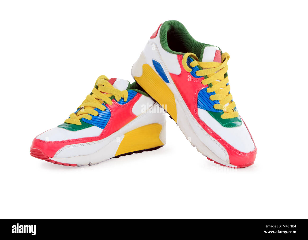 Sport shoes pair on a white background Stock Photo