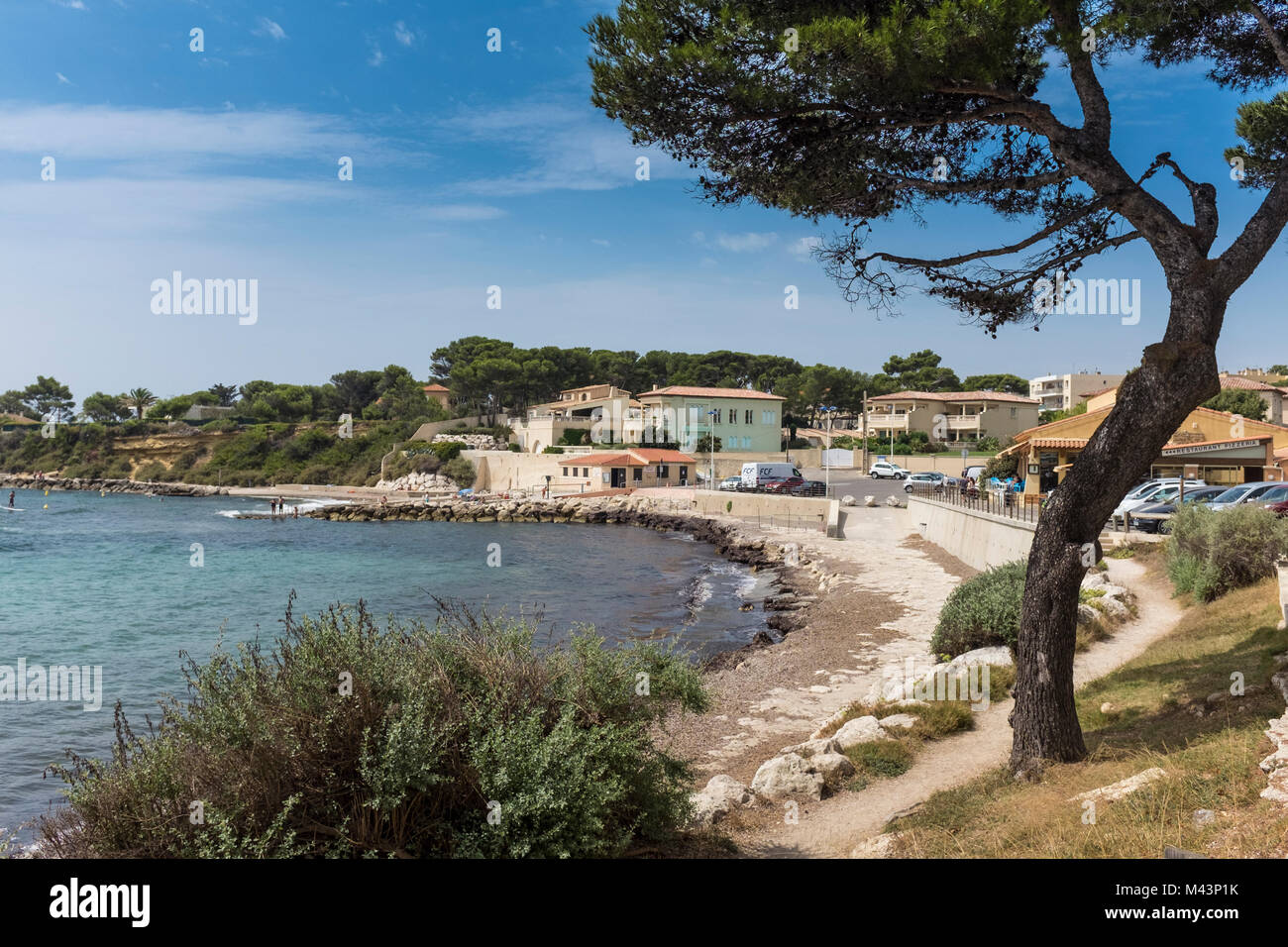 One of the beaches around Carry le Rouet, Bouches du Rhone, PACA, France - Stock Image