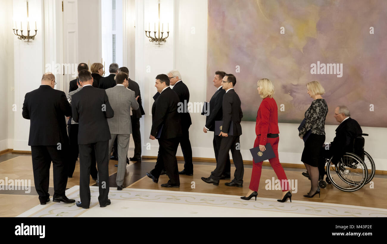 New ministers are appointed by President Gauck - Stock Image