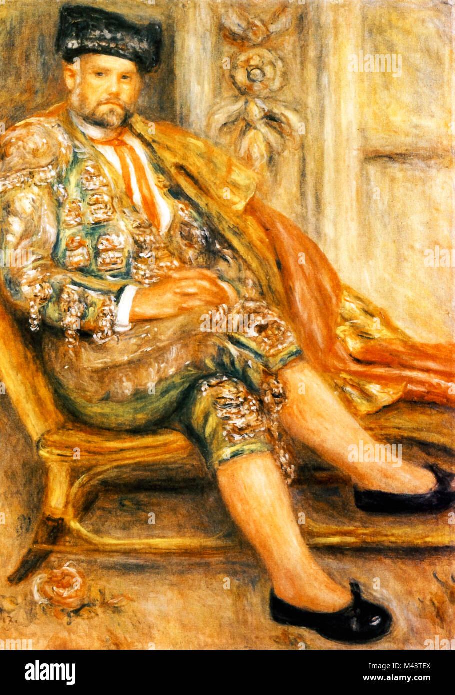 Portrait of Ambroise Vollard, 1917, Renoir - Stock Image