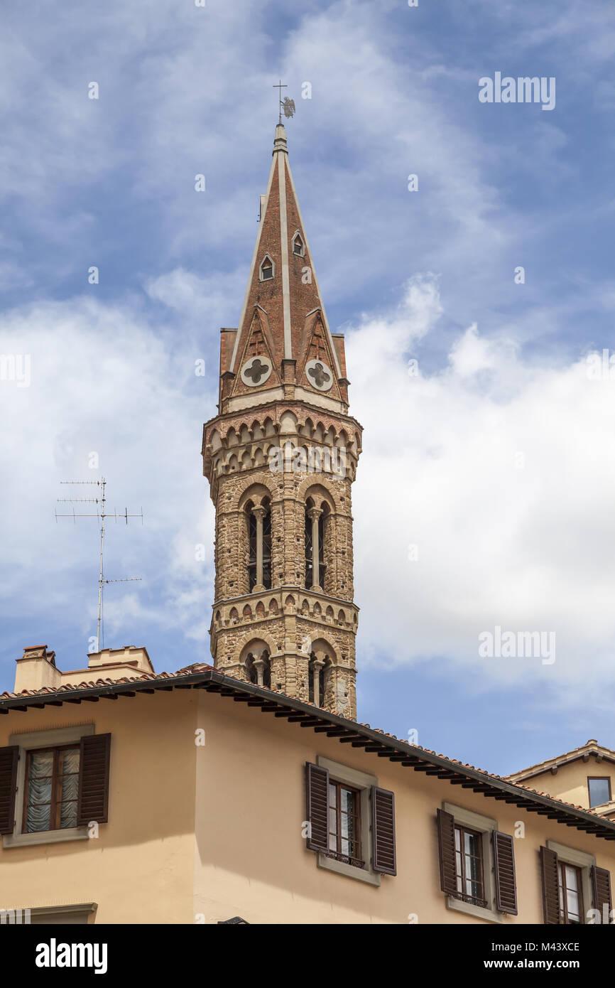 Florence, church Badia Fiorentina, Tuscany, Italy Stock Photo