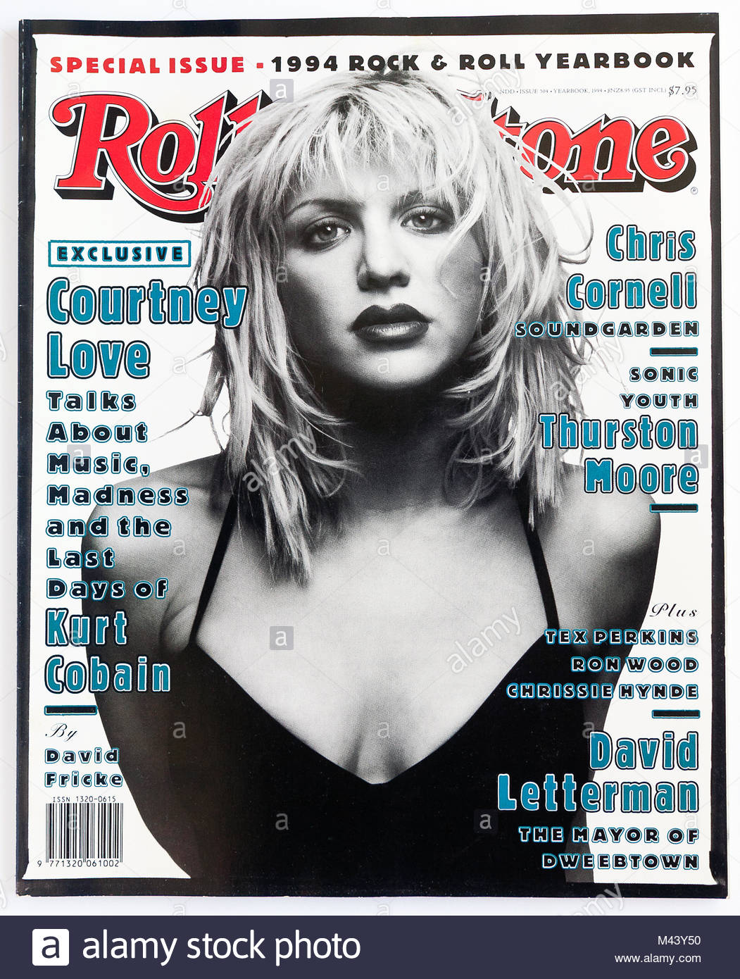 5c9719848519 The cover of Rolling Stone magazine, issue 504, Courtney Love - Stock Image