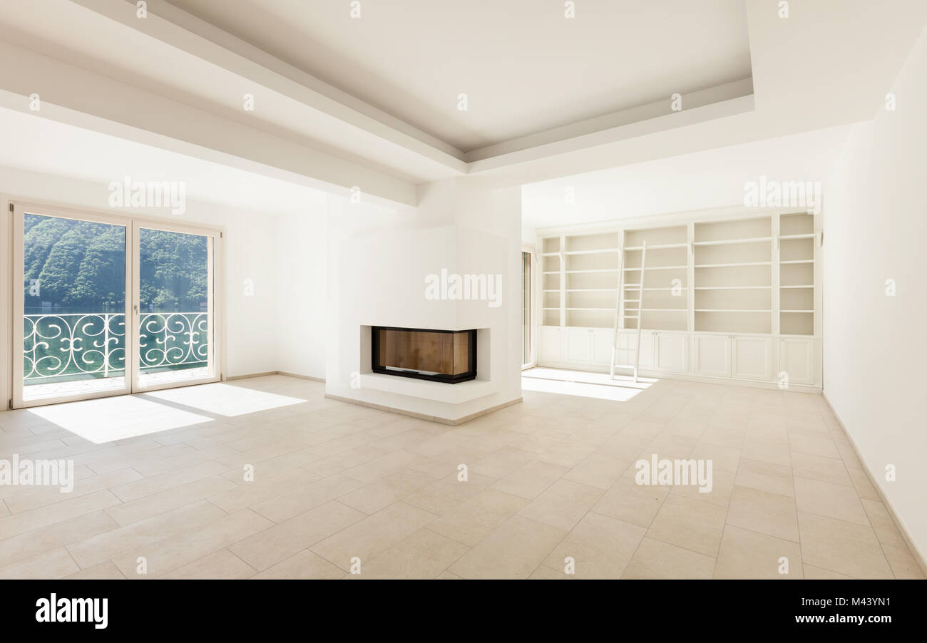 Interior Of A New Empty House View Living Room Stock Photo Alamy
