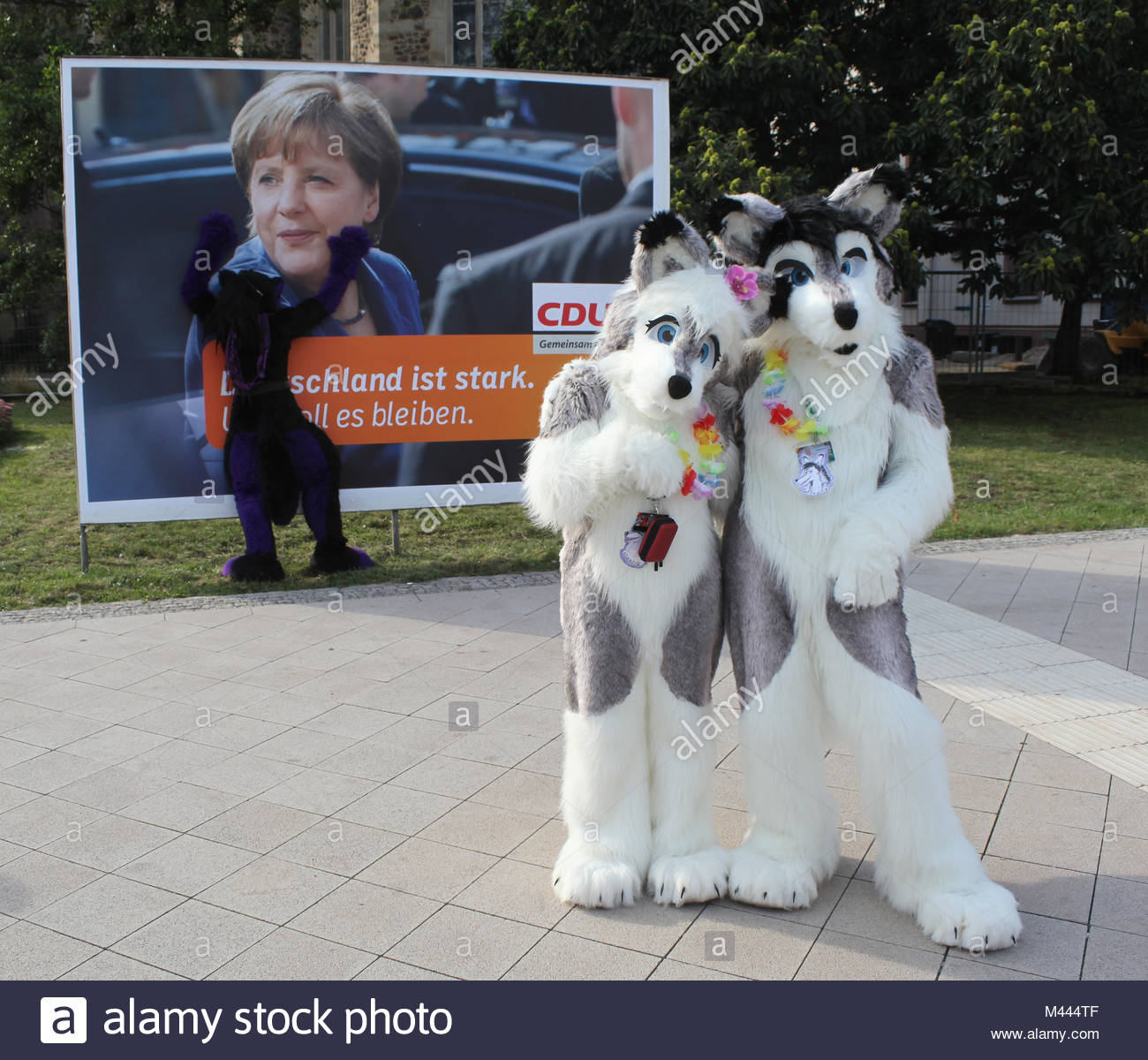 tierische Anblicke am Rande der Eurofurencce Convention in Magdeburg - Stock Image