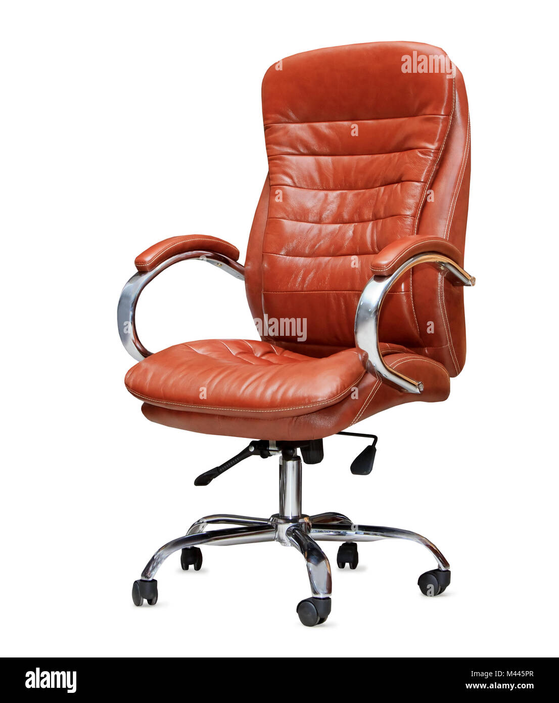 Attrayant The Office Chair From Orange Leather. Isolated   Stock Image