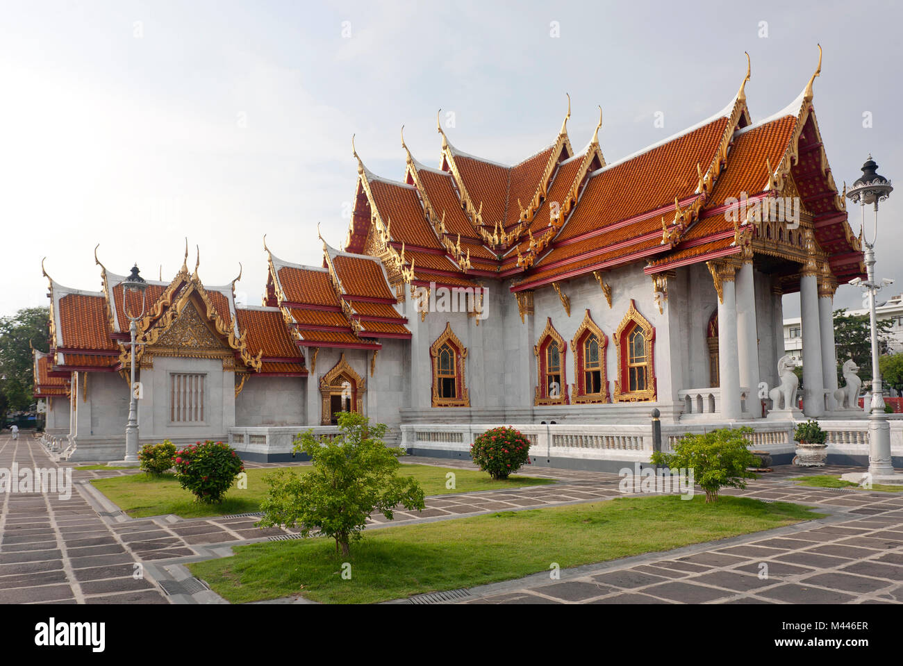 Wat Benchamabophit,the marble temple,Bangkok,Thailand Stock Photo