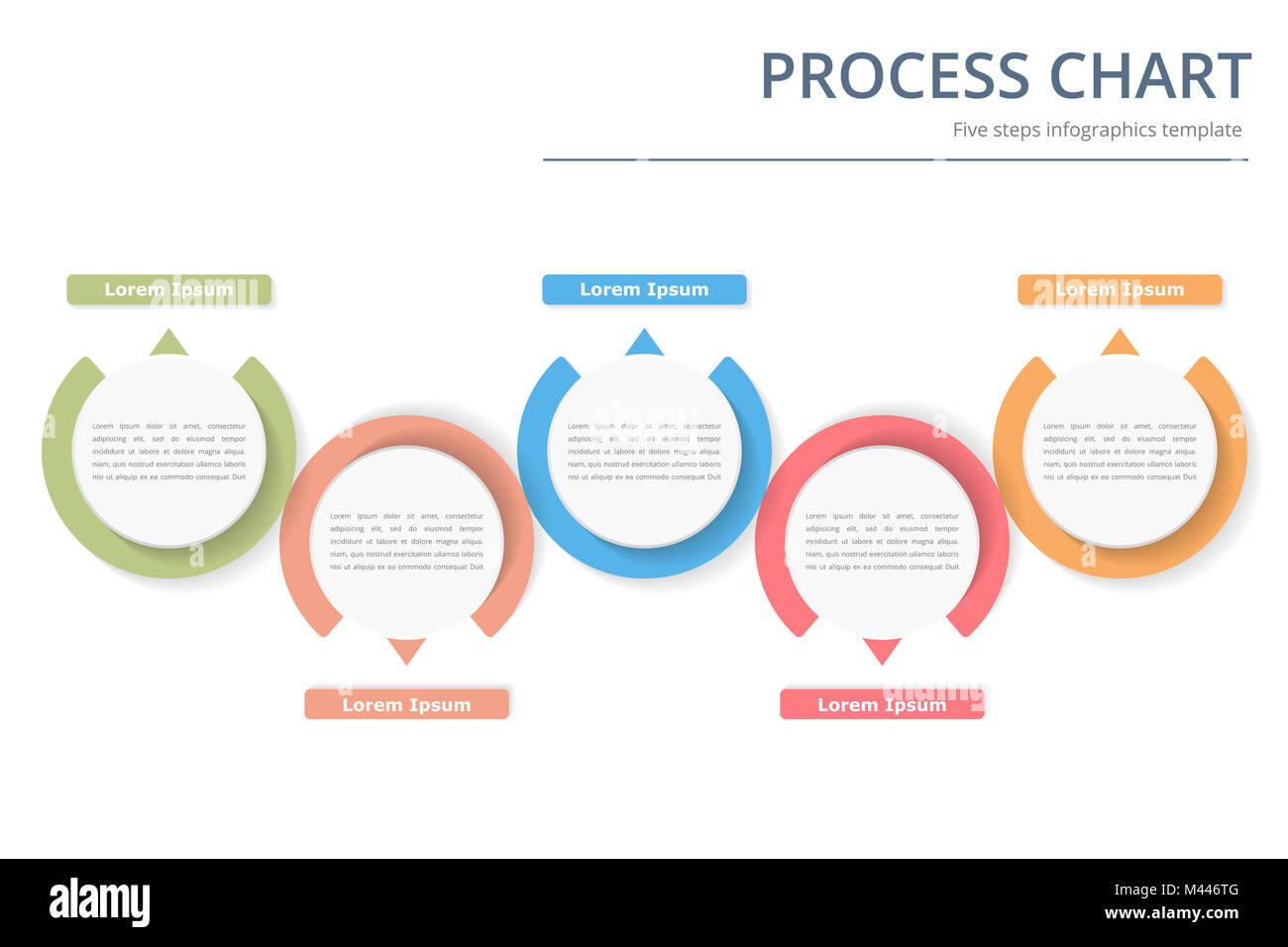 Process Diagram Template With Circles Flowchart Or Workflow With - Workflow process template