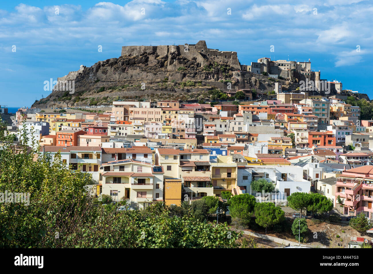 Overlook over Castelsardo,Sardinia,Italy - Stock Image