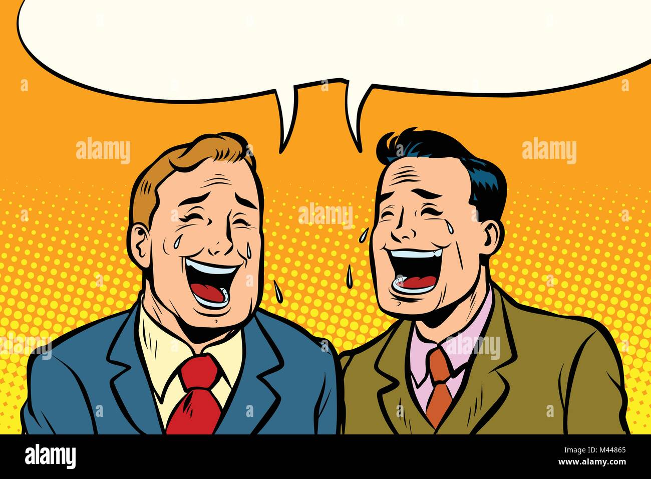 The two friends laugh - Stock Image