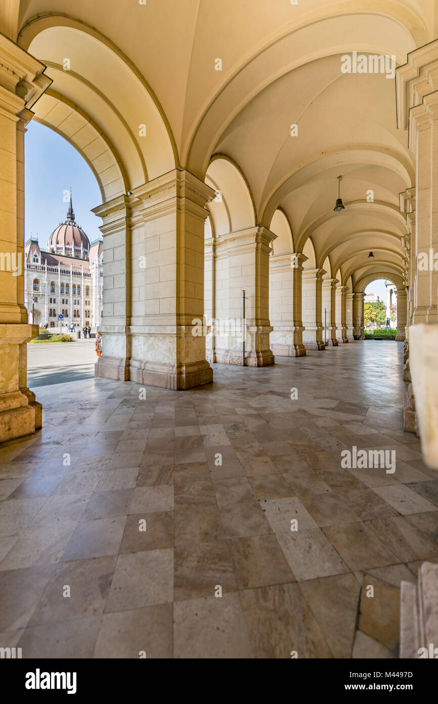 Cross vault at the Parliament,Budapest,Hungary - Stock Image