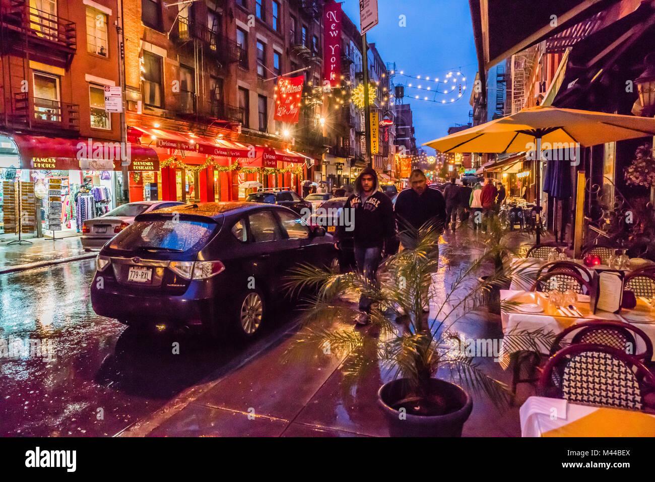 Little Christmas Italy.Little Italy Mulberry Street Manhattan New York New York