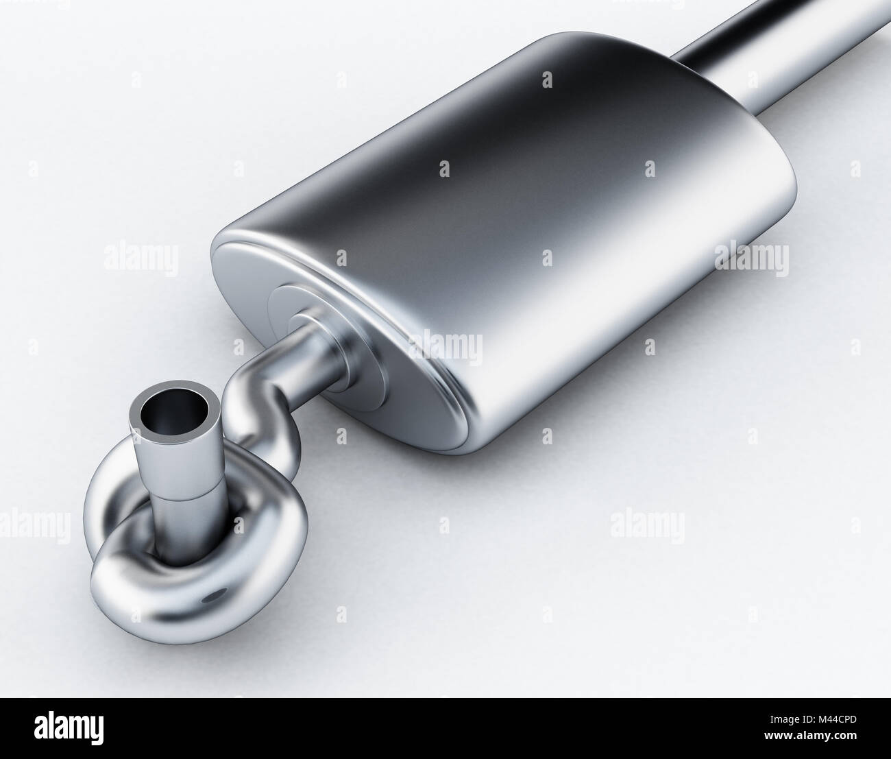 Abstract car engine illustration stock photos abstract car engine silencer of exhaust gases of the car tied in a knot 3d illustration malvernweather Gallery