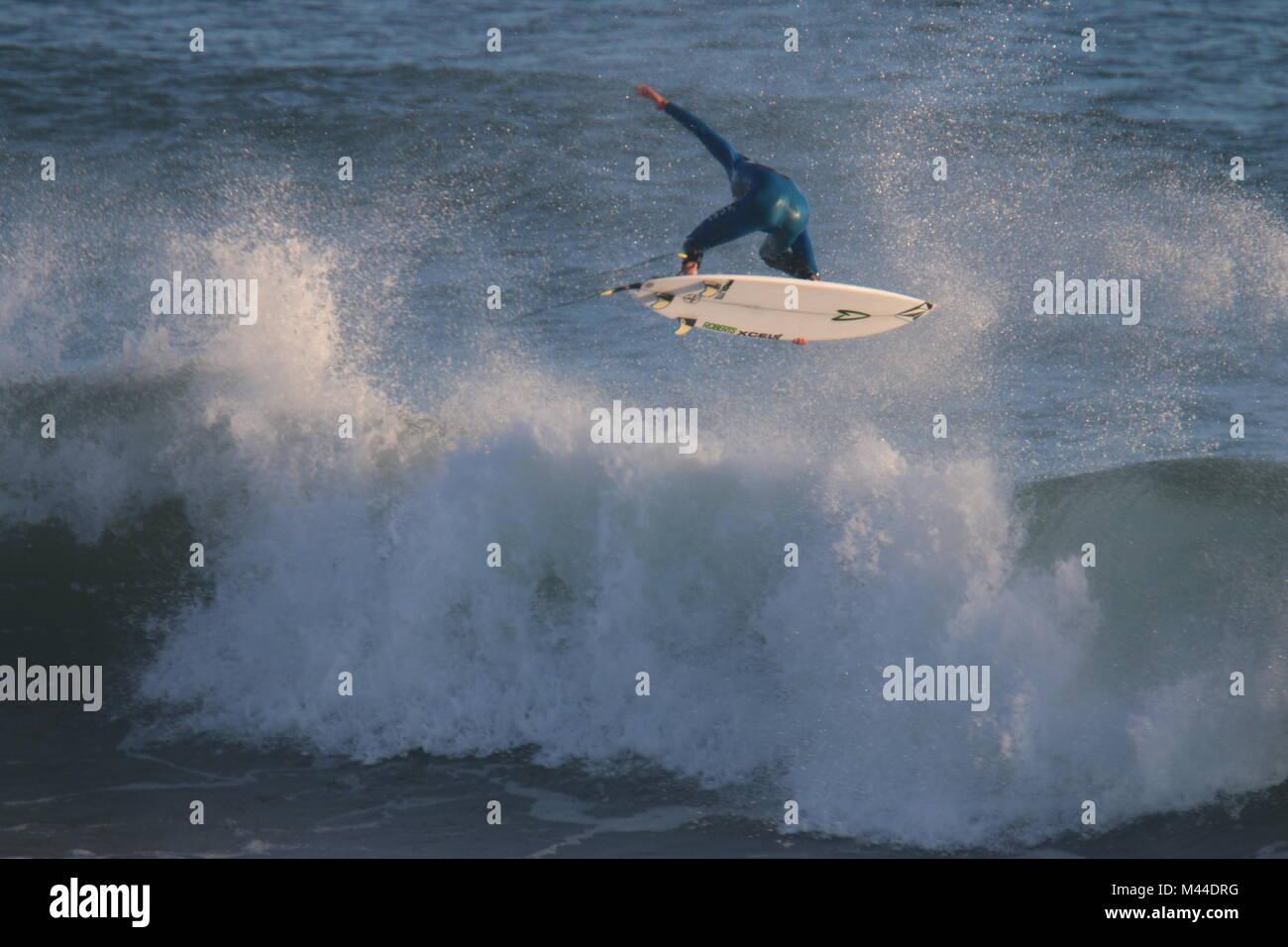 Surfing Rincon - Stock Image