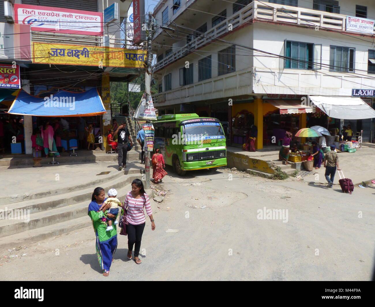 Kathmandu, Nepal, september 5, 2015: People on the street, just an ordinary day in Kathmandu - Stock Image