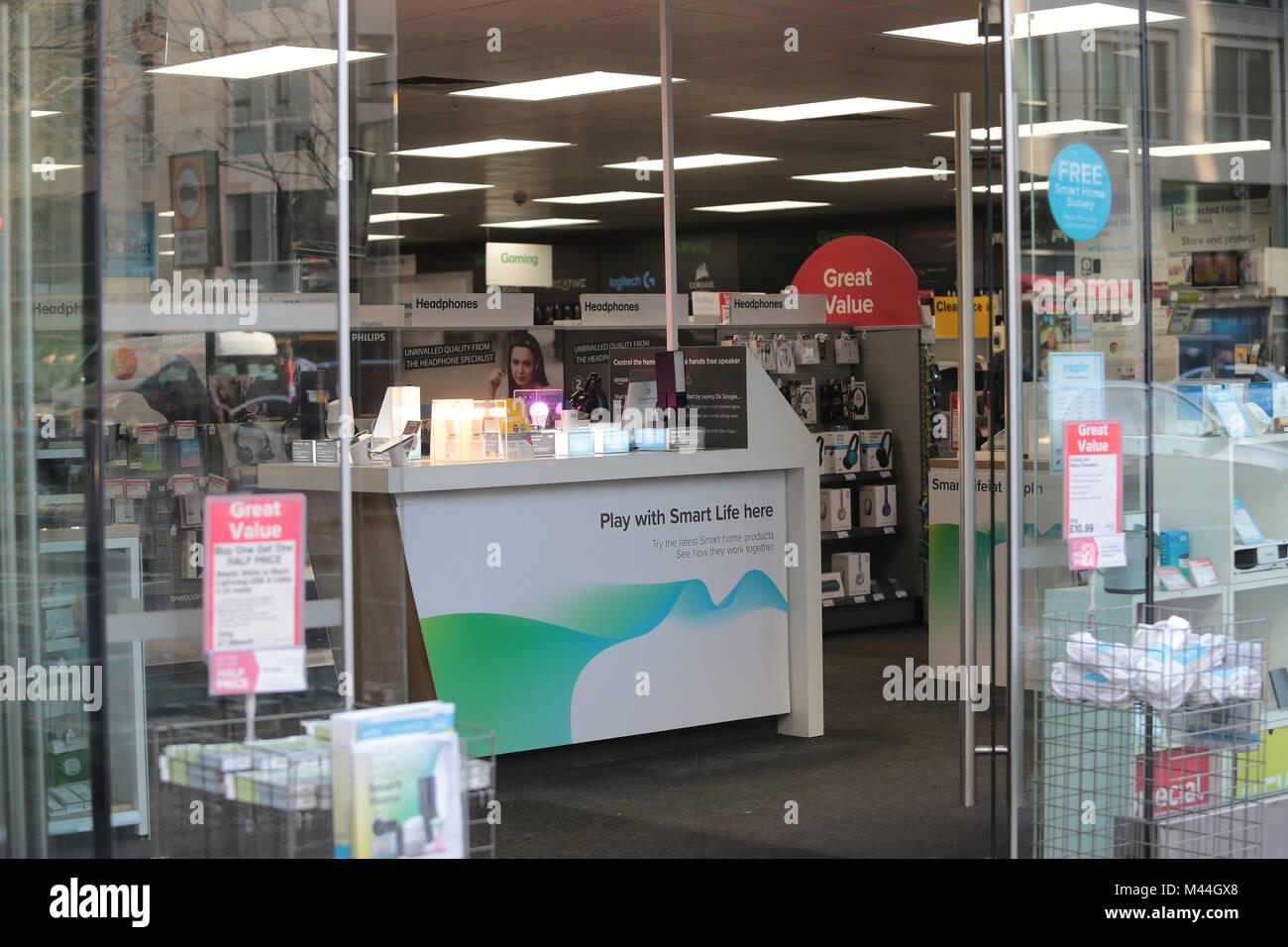 High Street electronics retailer Maplin who are facing tough trading conditions - Stock Image