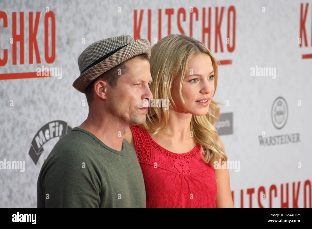 Actor Til Schweiger and girlfriend Svenja Holtmann - Stock Image