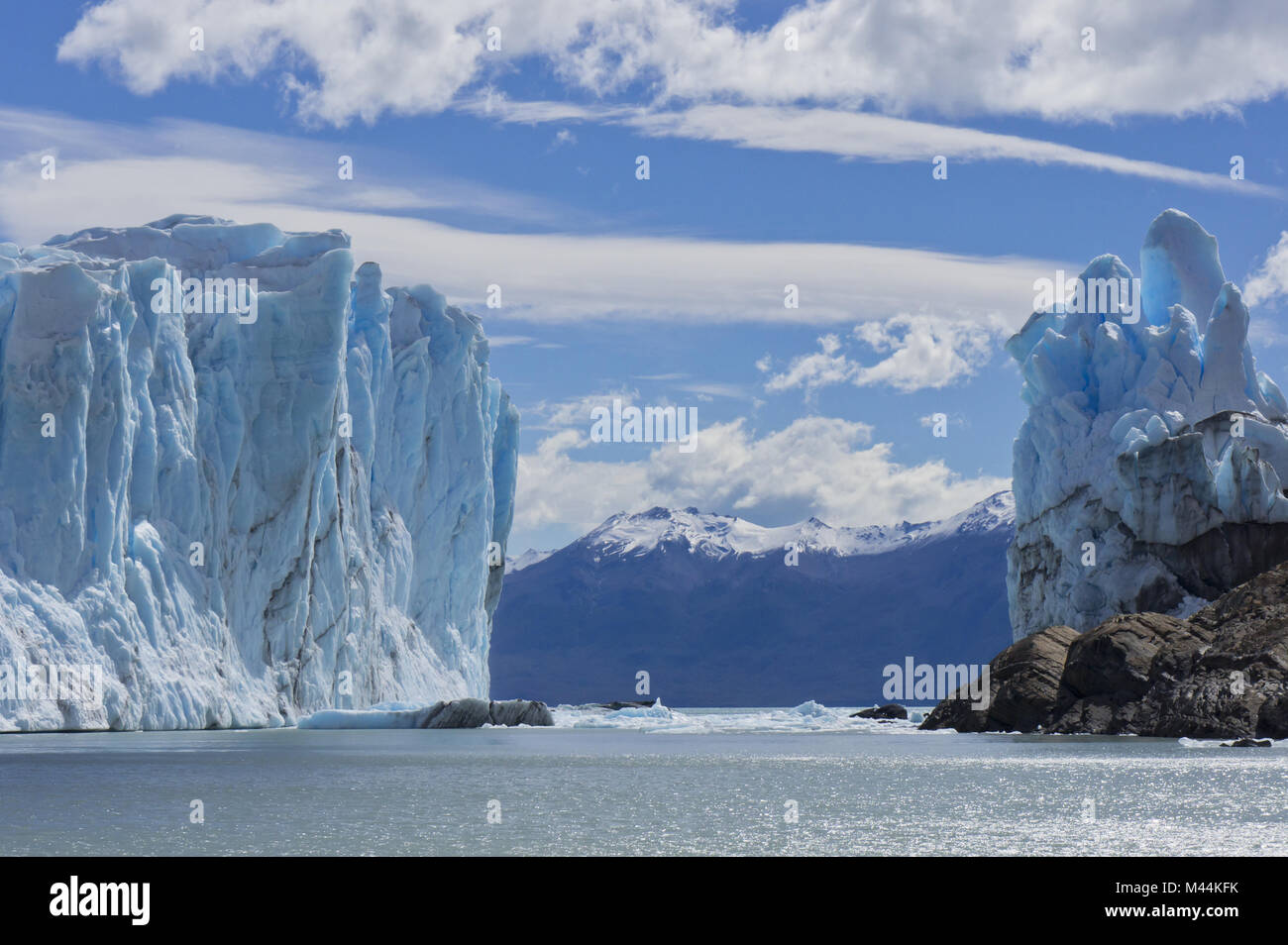 Patagonia, Perito Moreno blue glacier.View from la - Stock Image