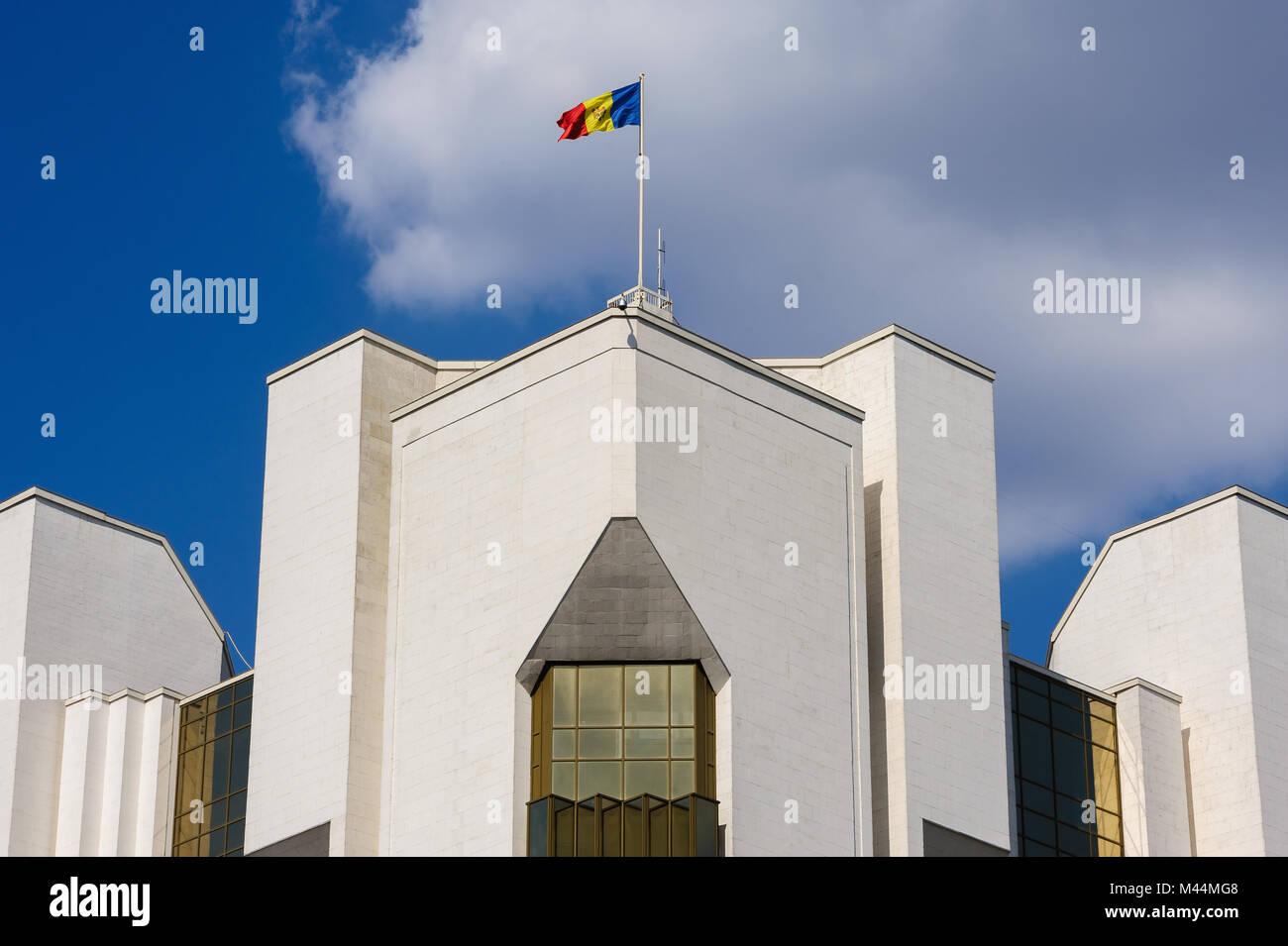 President's administration building, Chisinau, Moldova - Stock Image
