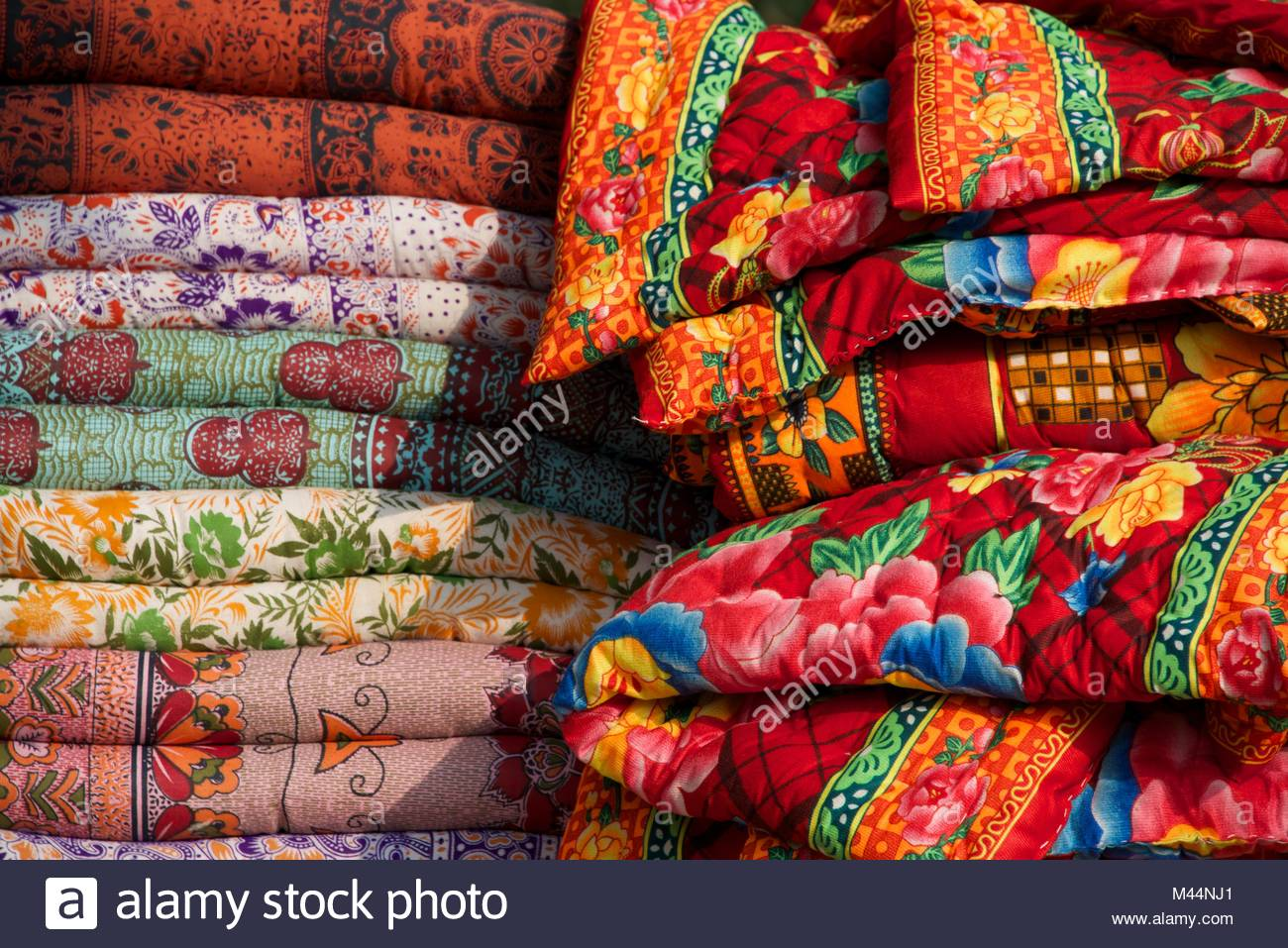 Colourful Indian cloths - Stock Image