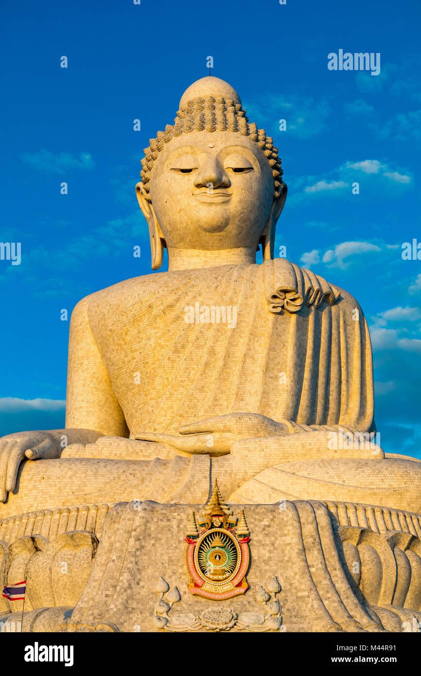 Big Buddha Chalong Phuket Thailand Asia February 14, 2018 The 45 metre tall Big Buddha of Phuket - Stock Image