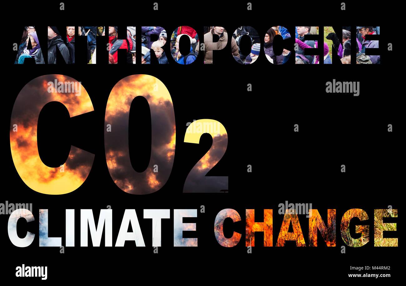 Anthropocene/Climate change - Stock Image