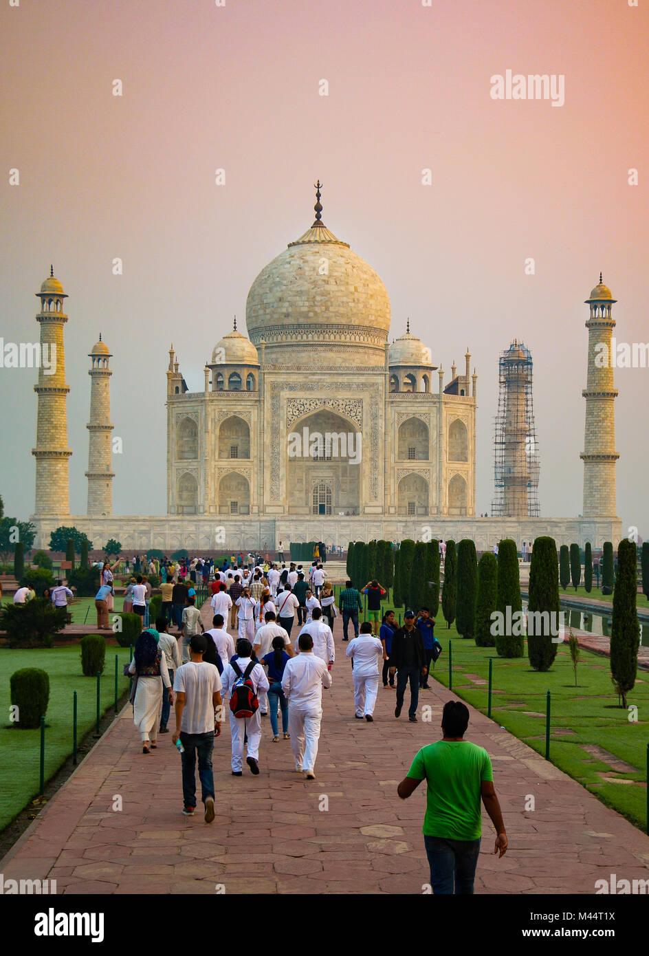 Taj Mahal, Agra, Uttar Pradesh, India - Stock Image